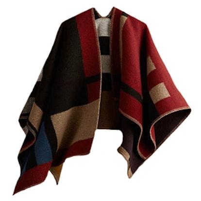 Check Blanket Poncho