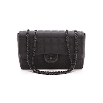 Vintage Black Half Flap Bag
