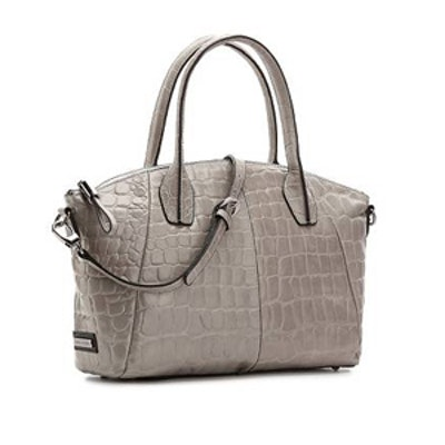 Leather Satchel in Grey