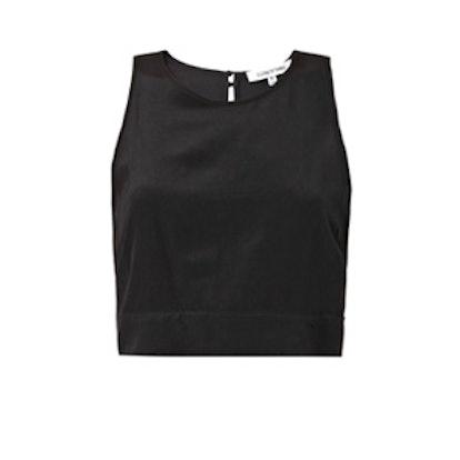 Katrin Cropped Silk Blouse