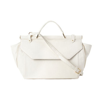 Structured Caryall Bag in White