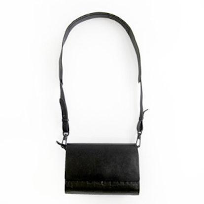 Black Embossed Croc Bag
