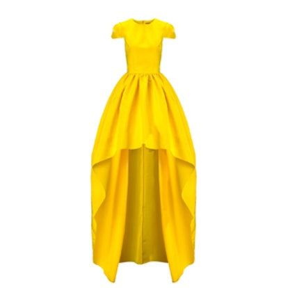 Yellow Silk Faille Gown
