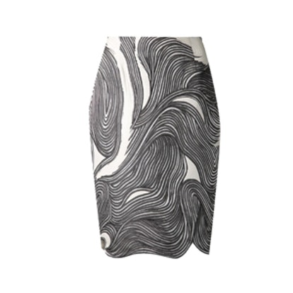 Swirl Print Skirt