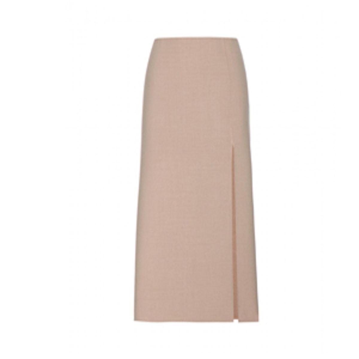 Wool Blend Tailored Skirt