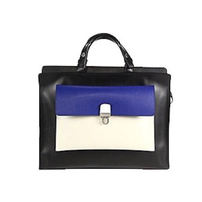 Colorblock Top-Handle Bag