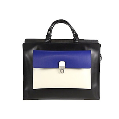 Colorblock Top-Handle Bag
