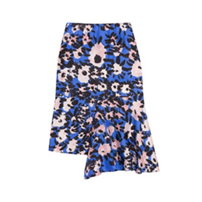 Printed Draped Skirt