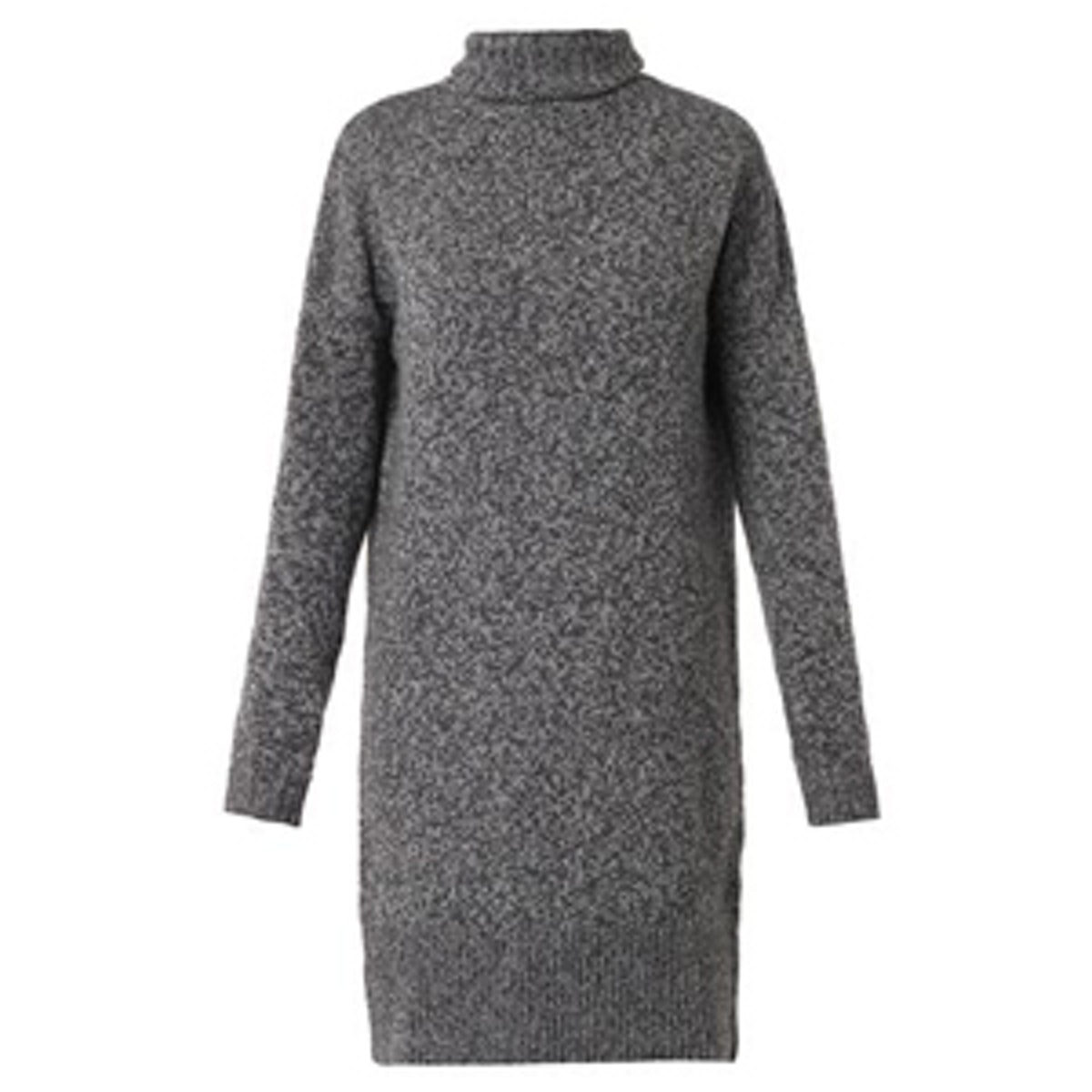 Wool and Cashmere Blend Knit Dress