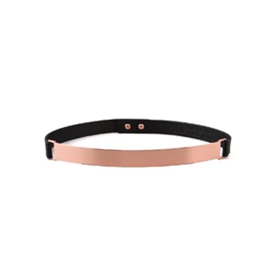 Thin Rose Gold Plate Belt