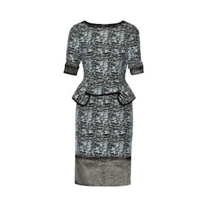 Jacquard Peplum Dress