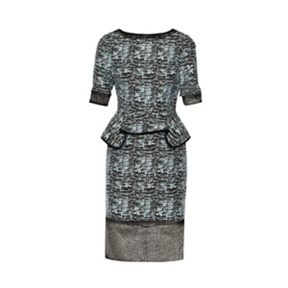 Jacquard Peplum Dress