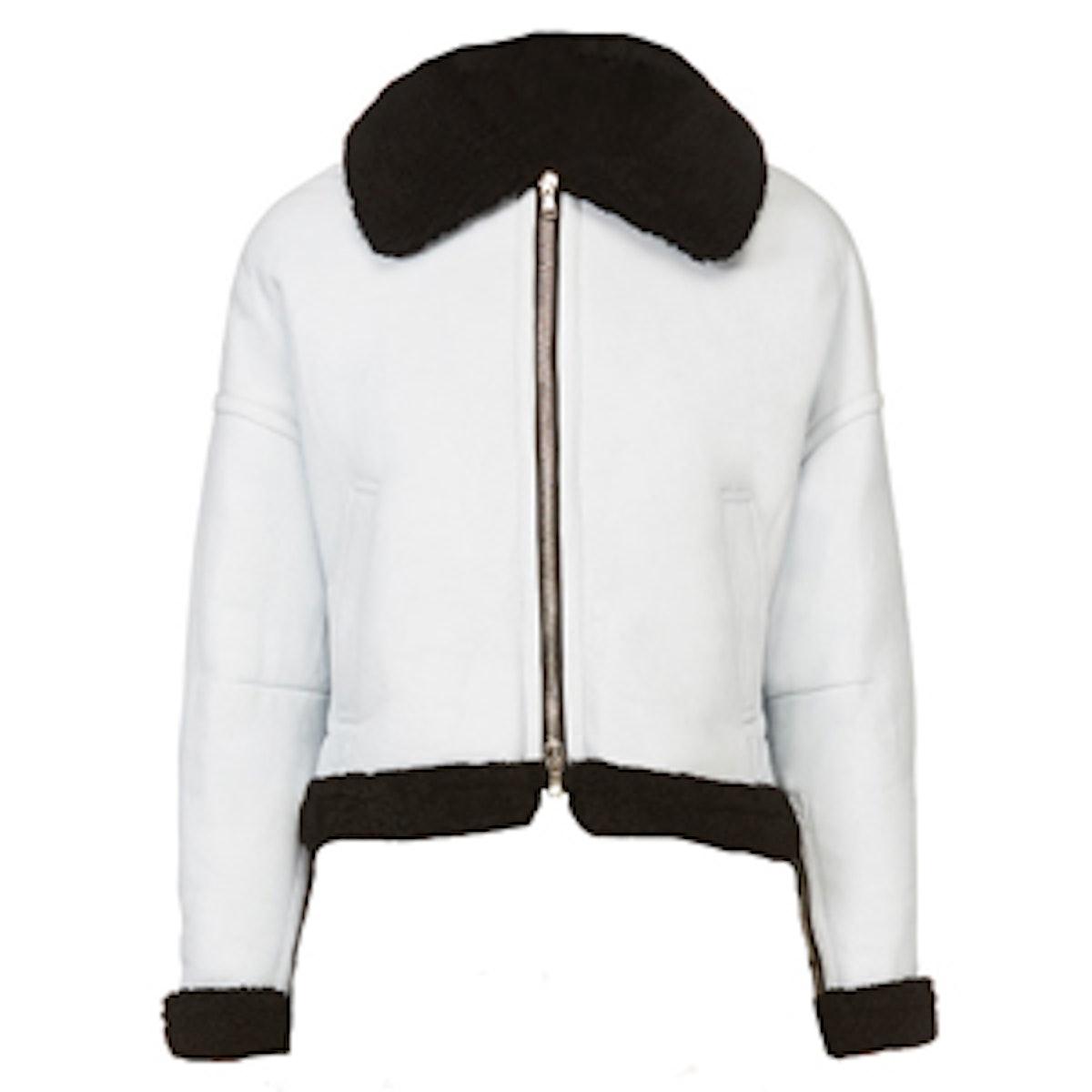 Ice Blue Shearling Jacket