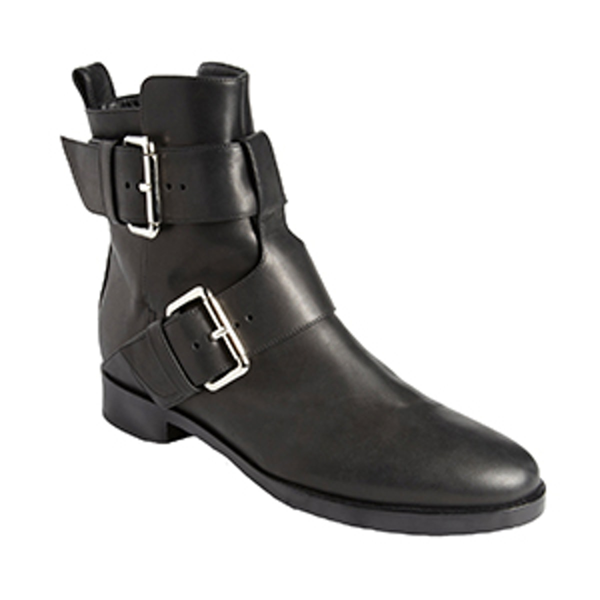 Double-Buckle Motorcycle Boots
