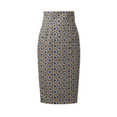 Agnese Tribal-Print Pencil Skirt