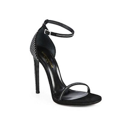 Jane Crystal-Encrusted Sandals