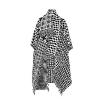 Houndstooth Wool Blanket Coat