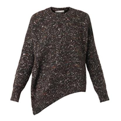 Asymmetric Wool-Blend Sweater