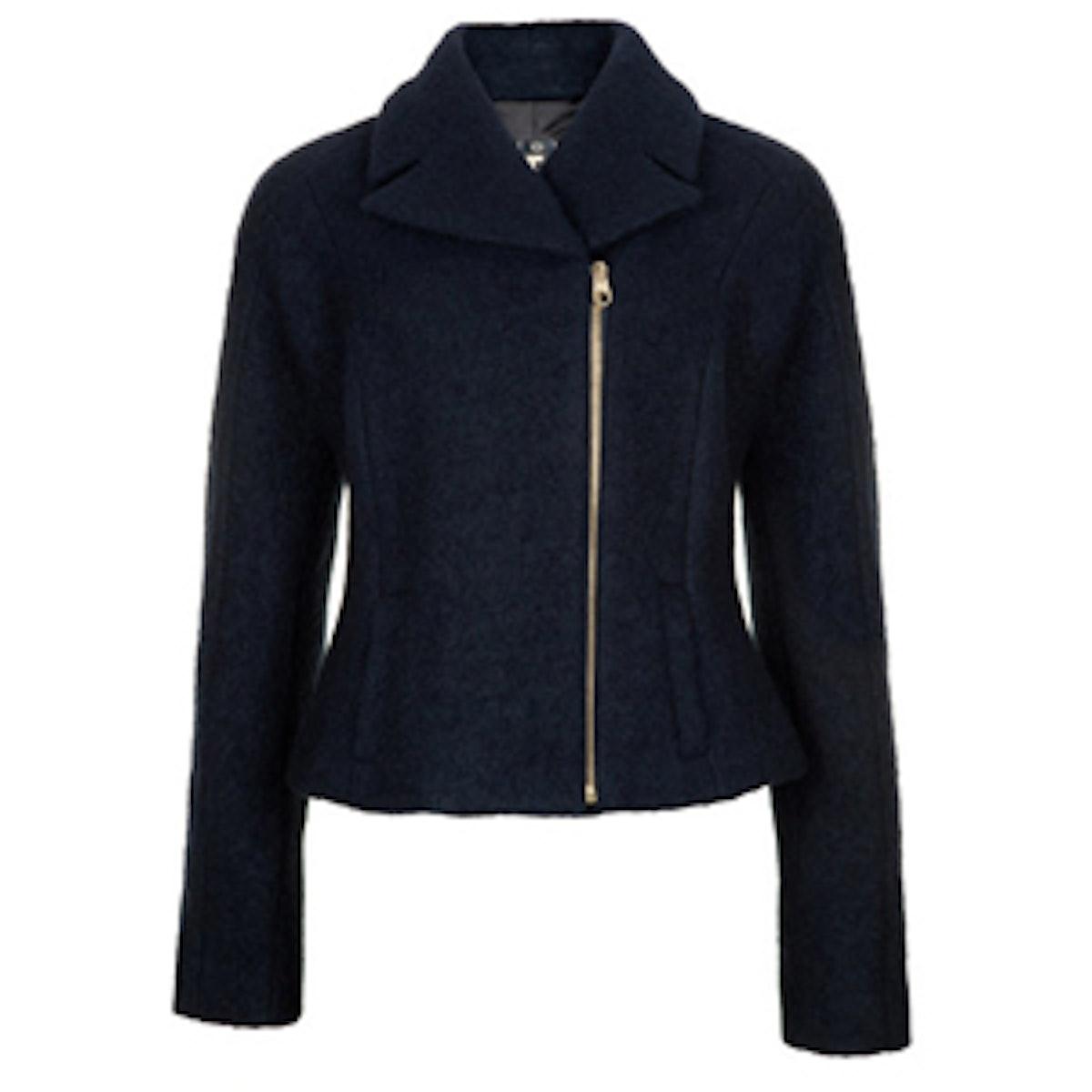 Woollen Biker Jacket