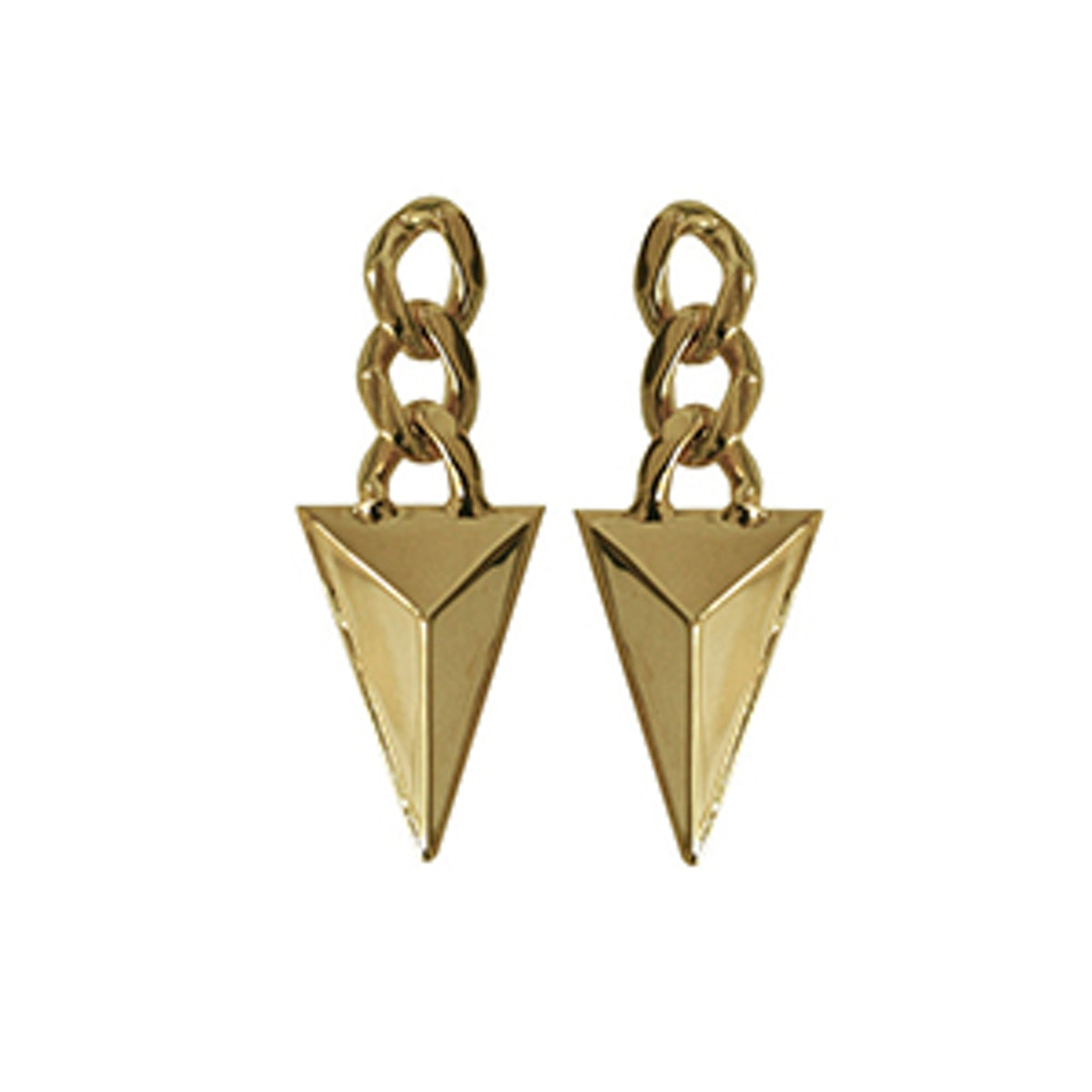 Chained Pyramid Earrings