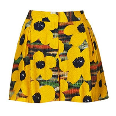 Poppy Print Shorts
