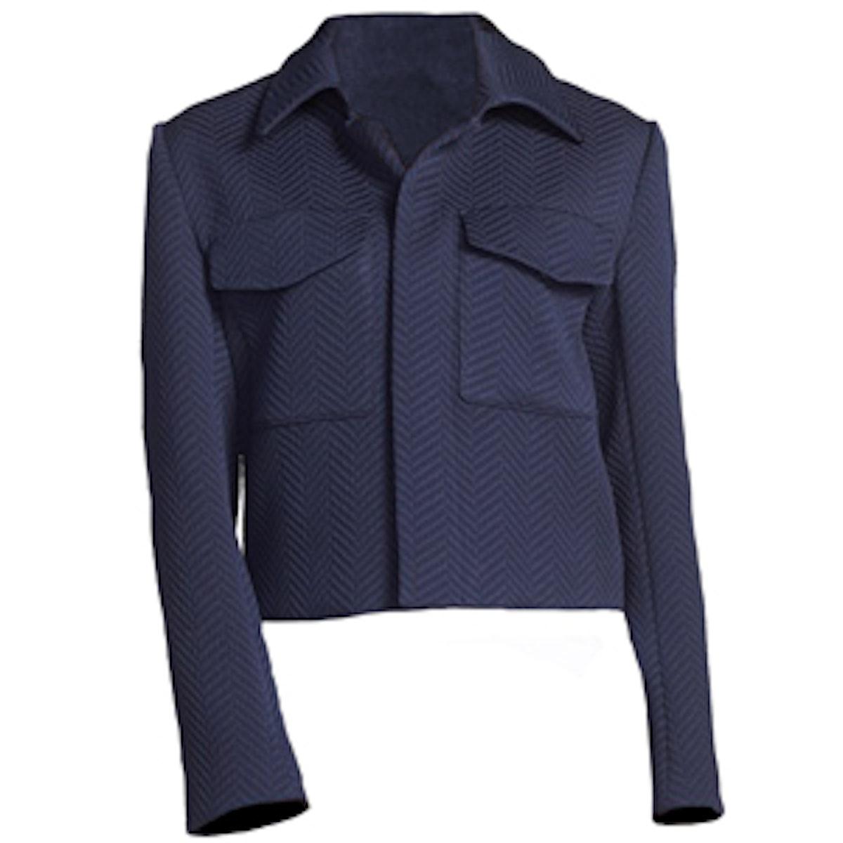 Flap Pocket Crop Jacket