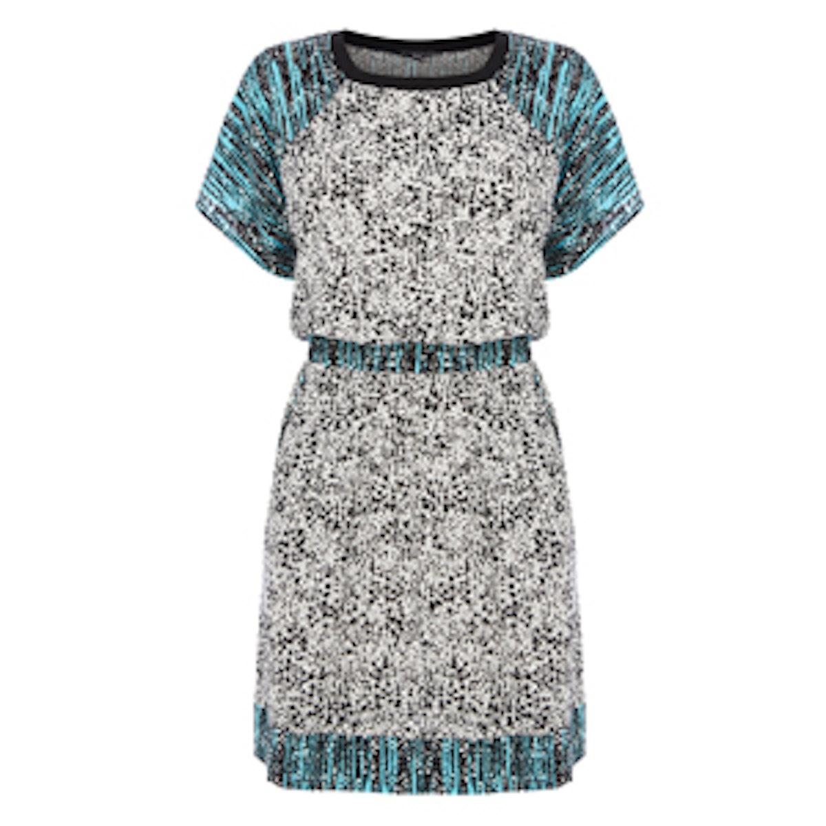 Printed Drawstring Dress