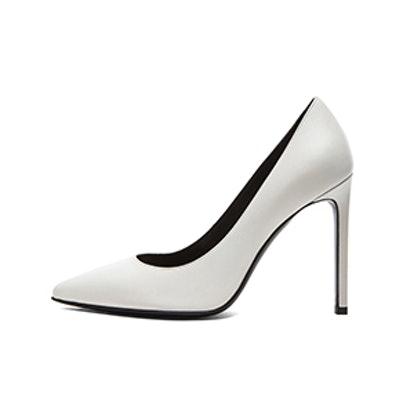 Calfskin Leather Pumps in White