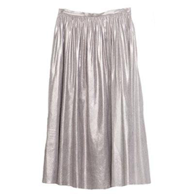 Silver Full Midi Skirt