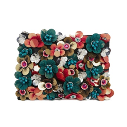 Clutch with Flower Embellishments