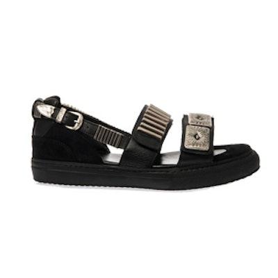 Metal-Embellished Trainer Sandals