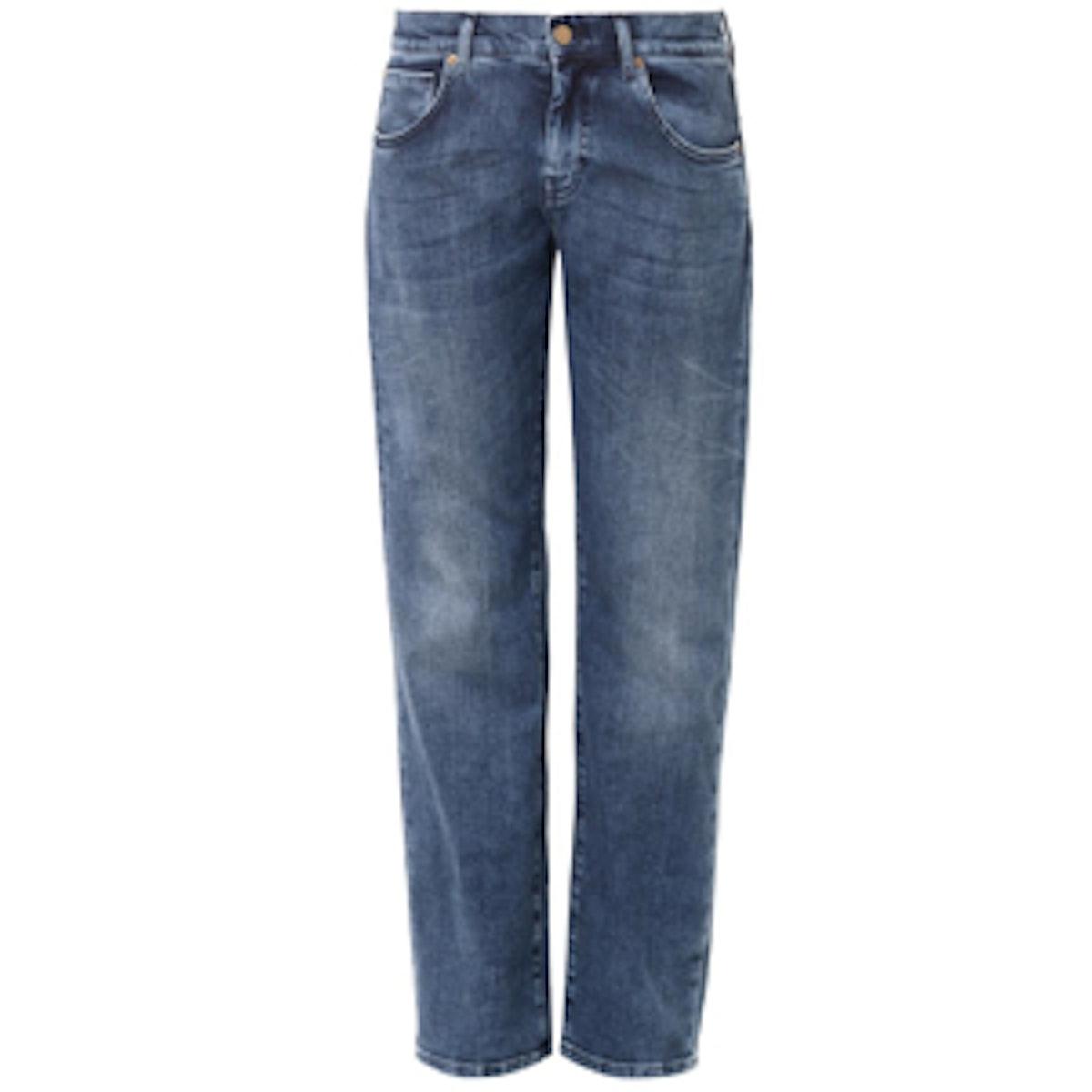 Low-Slung Boyfriend Jeans