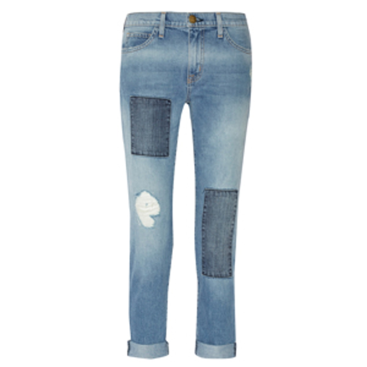 Fling Patchwork Boyfriend Jeans