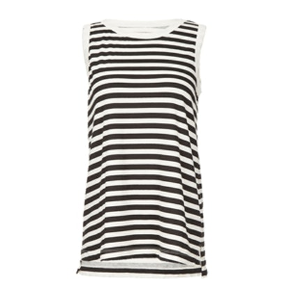 Sleeveless Striped Muscle Tee