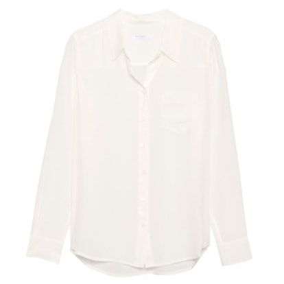 Brett Silk Shirt in Nature White