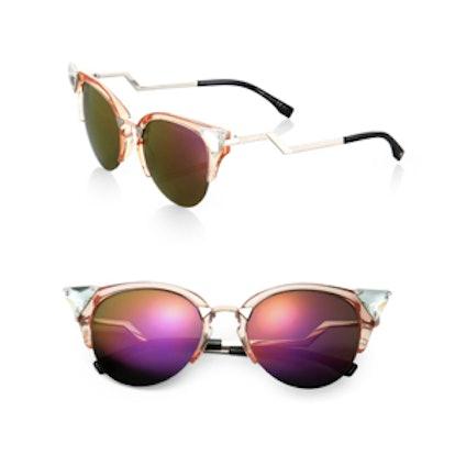 Zig-Zag Cat-Eye Sunglasses