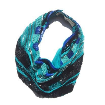 Kinsey Teal Scarf Necklace