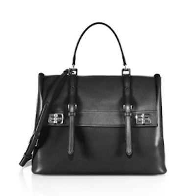Lux Calf Double Satchel