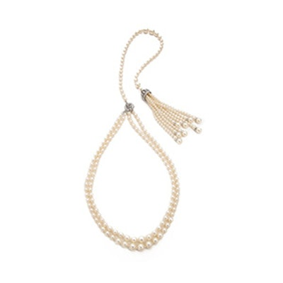 Imitation Pearl Back Necklace