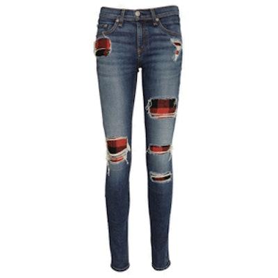 Sloane Plaid Skinny Jeans