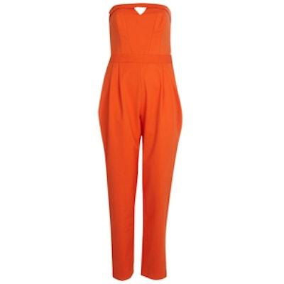 Orange Bandeau Jumpsuit