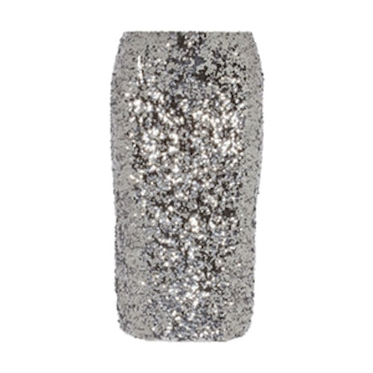 Poliio Sequined Pencil Skirt