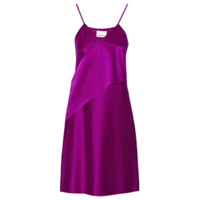 Stretch-Satin Slip Dress