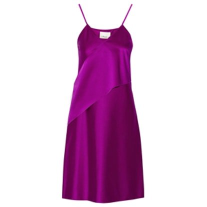 Stretch-Satin Slip Dress