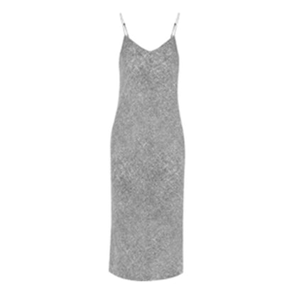 Printed Silk Slip Dress