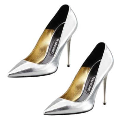 Mirror Leather Pointy Toe Pumps