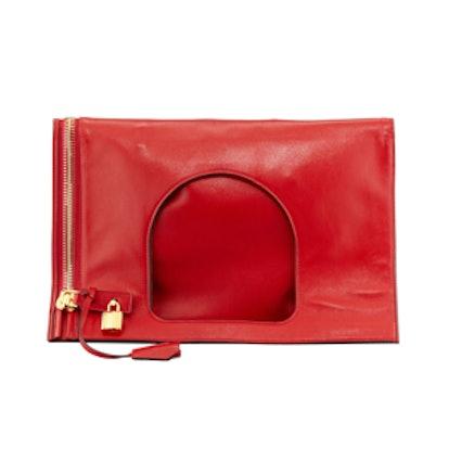 Alix Leather Padlock Shoulder Bag