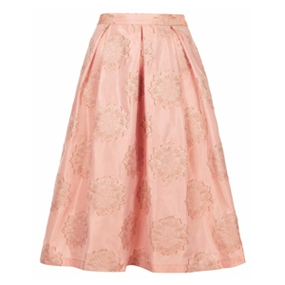 Antique Jacquard Midi Skirt