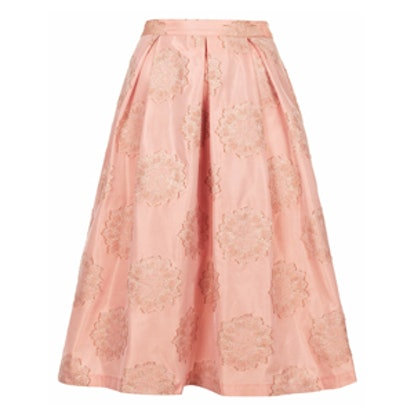 Antique Jacquard Midi Skirt