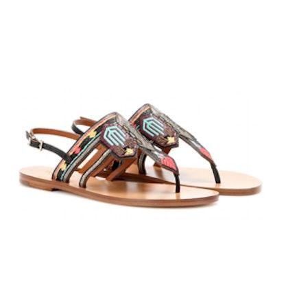 Kilim Embroidered Sandals